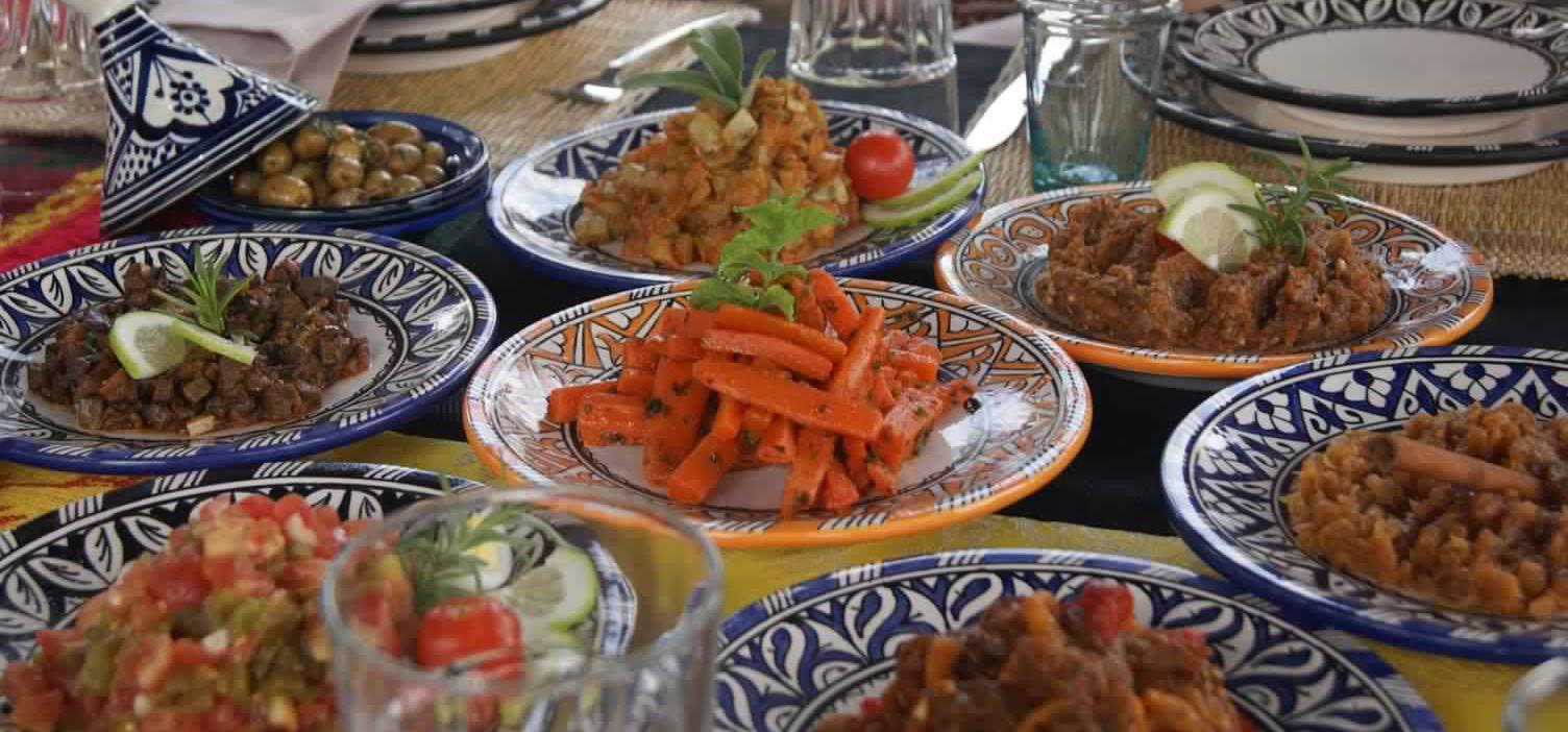 Buffet de plats marocain